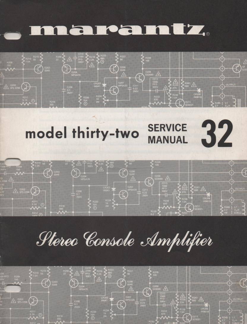 32 Console Amplifier Service Manual