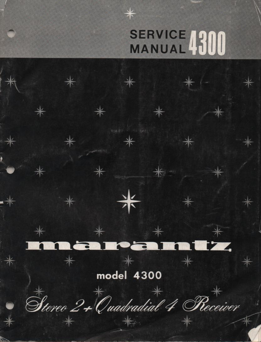 4300 Stereo Receiver Service Manual  MARANTZ