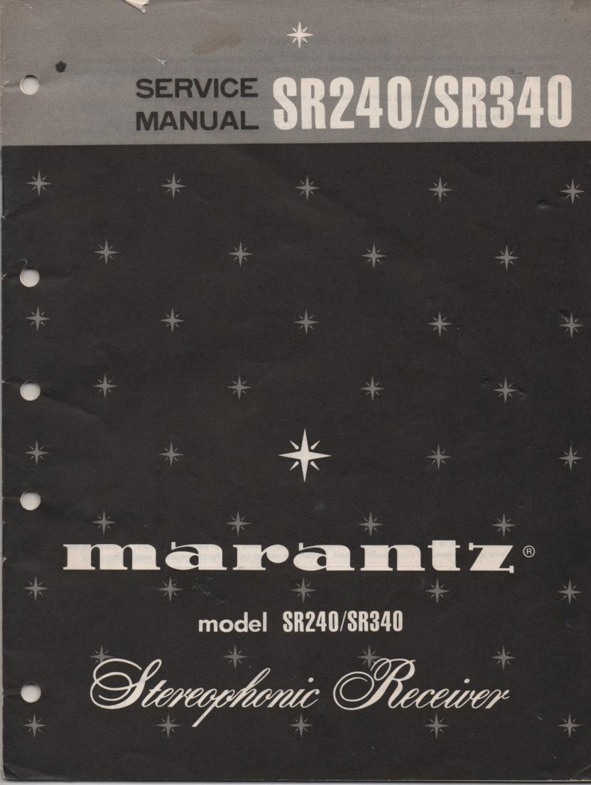 SR240 SR340 Stereo Receiver Service Manual