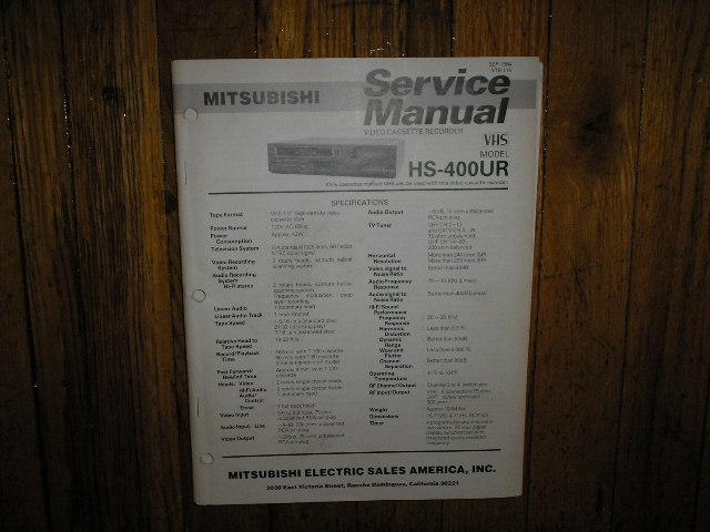 HS-400UR VCR Service Manual