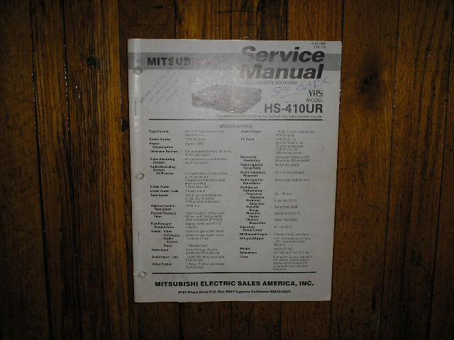HS-410UR VCR Service Manual