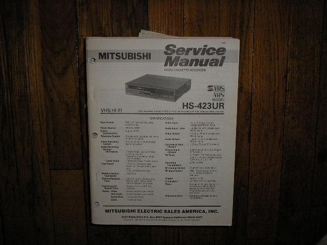 HS-423UR VCR Service Manual