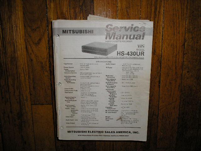 HS-430UR VCR Service Manual