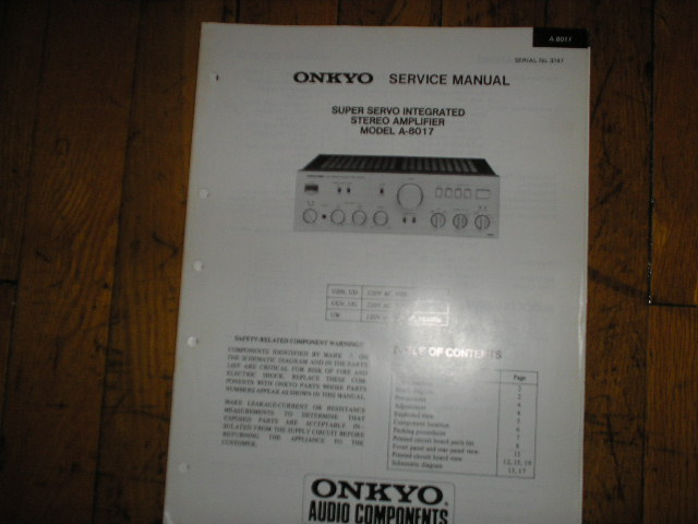 A-8017 Amplifier Service Manual