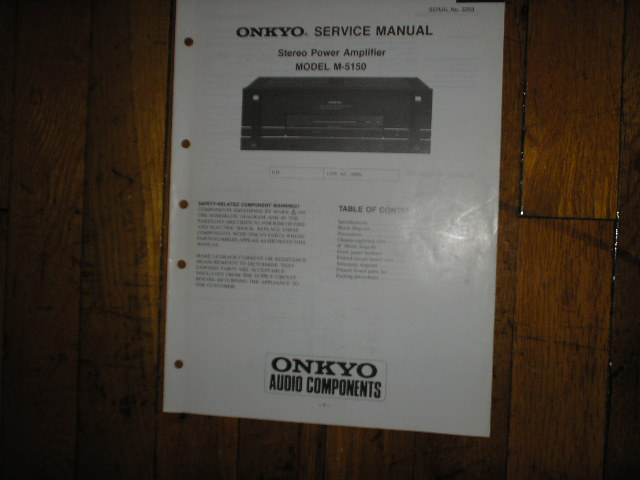 M-5150 Amplifier Service Manual