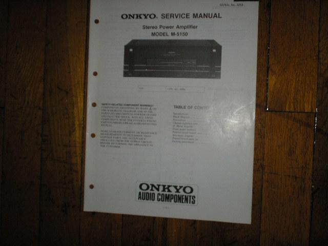 M-5150 Amplifier Service Manual
