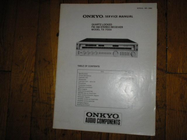 TX-7000 Receiver Service Manual