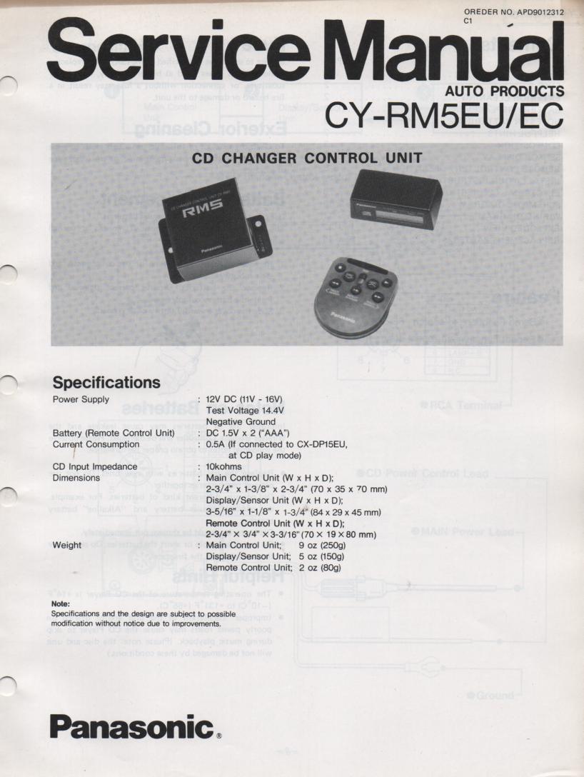 CY-RM5EU CY-RM5EC Power Amplifier Service Manual
