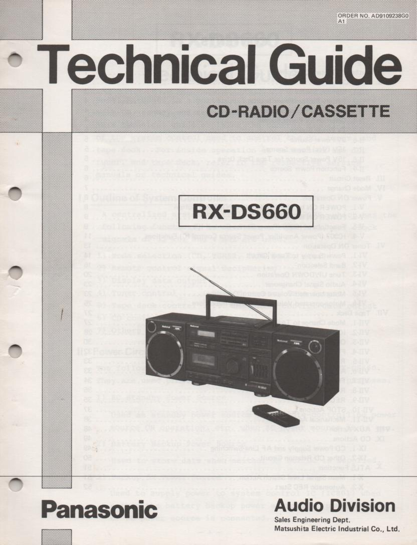 RX-DS660 AM FM CD Player Cassette Recorder Technical Service Manual
