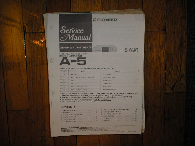 A-5 Stereo Amplifier Service Manual