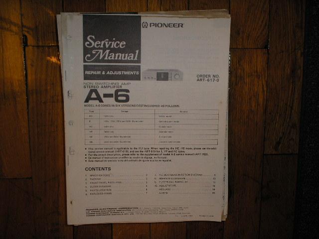 A-6 Amplifier Service Manual