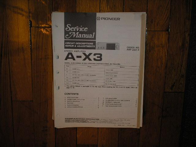 A-X3 Amplifier Service Manual
