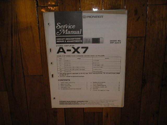 A-X7 Amplifier Service Manual