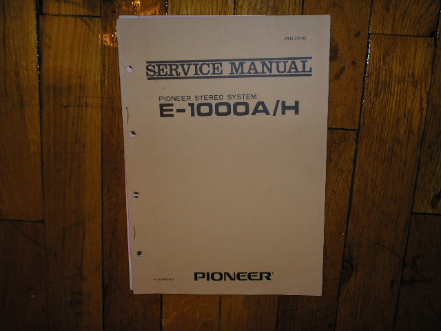 E-1000A H Stereo System Service Manual