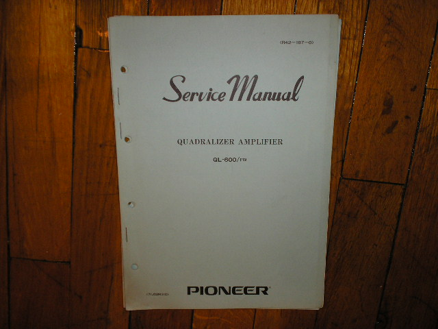 QL-600 Amplifier Service Manual FW Type
