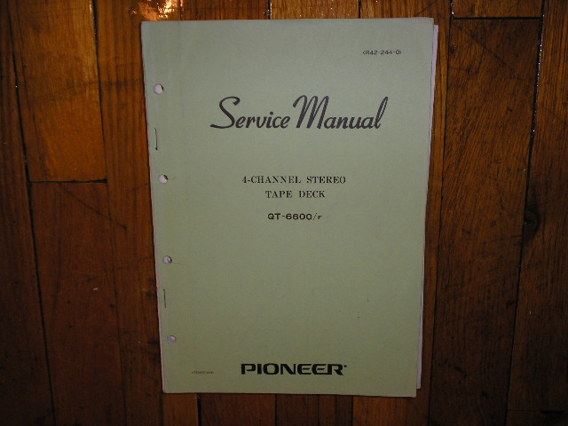 QT-6600 QT-6600 F QT-6600F Reel to Reel Service Manual  Pioneer