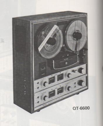 QT-6600 Reel to Reel Schematic Manual  PIONEER SCHEMATIC MANUALS