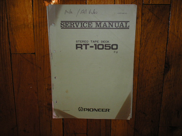 RT-1050 FU Reel to Reel Service Manual  Pioneer