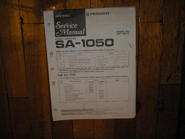 SA-1050 Amplifier Service Manual
