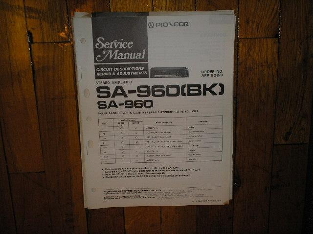 SA-960 SA-960BK Amplifier Service Manual