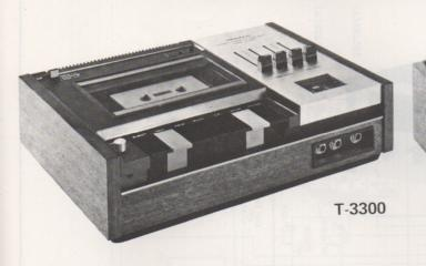T-3300 Cassette Deck Schematic Manual Only.  It does not contain parts lists, alignments,etc.  Schematics only
