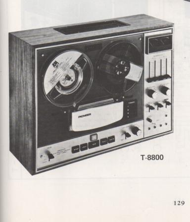 T-8800 Reel to Reel Schematic Manual  PIONEER SCHEMATIC MANUALS