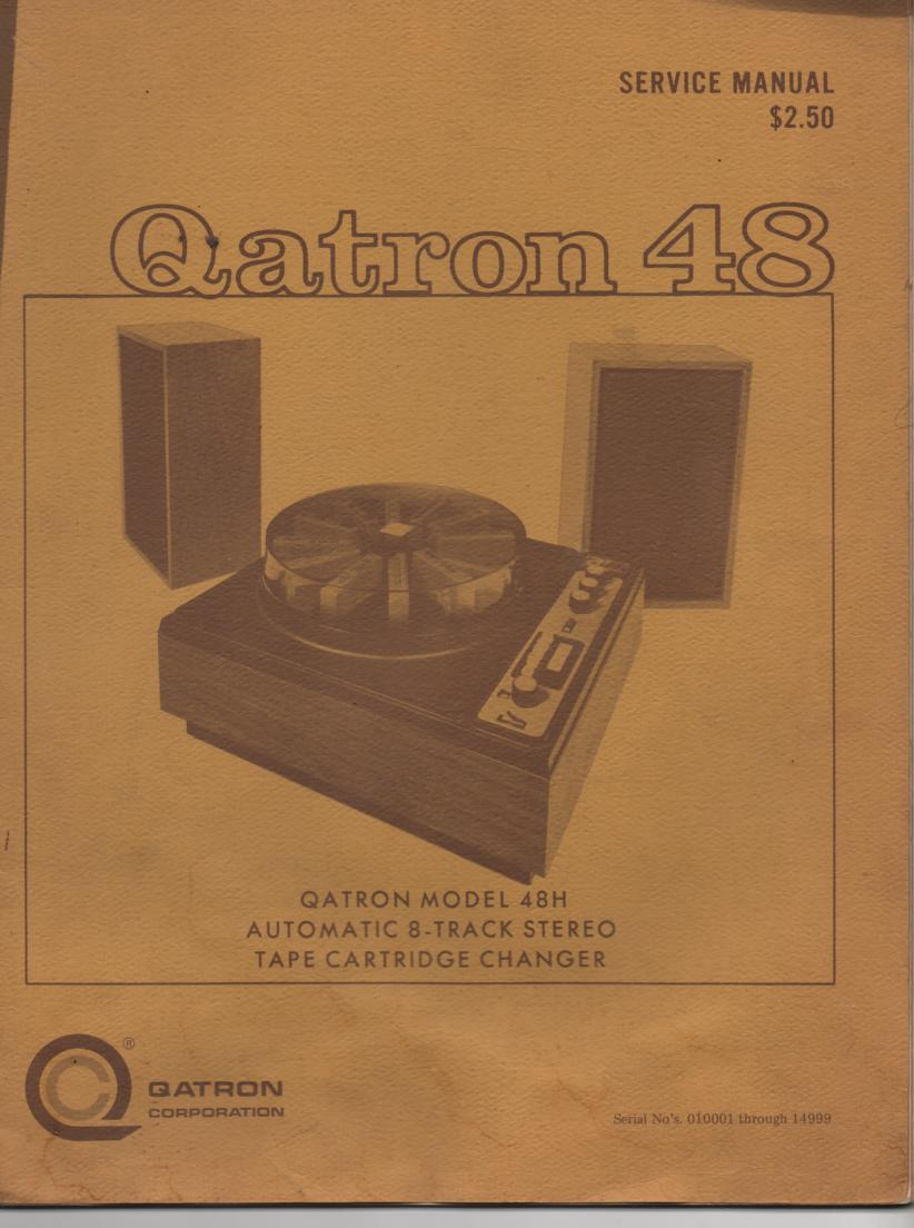 48H Automatic 8-Track Changer Service Manual for Serial No