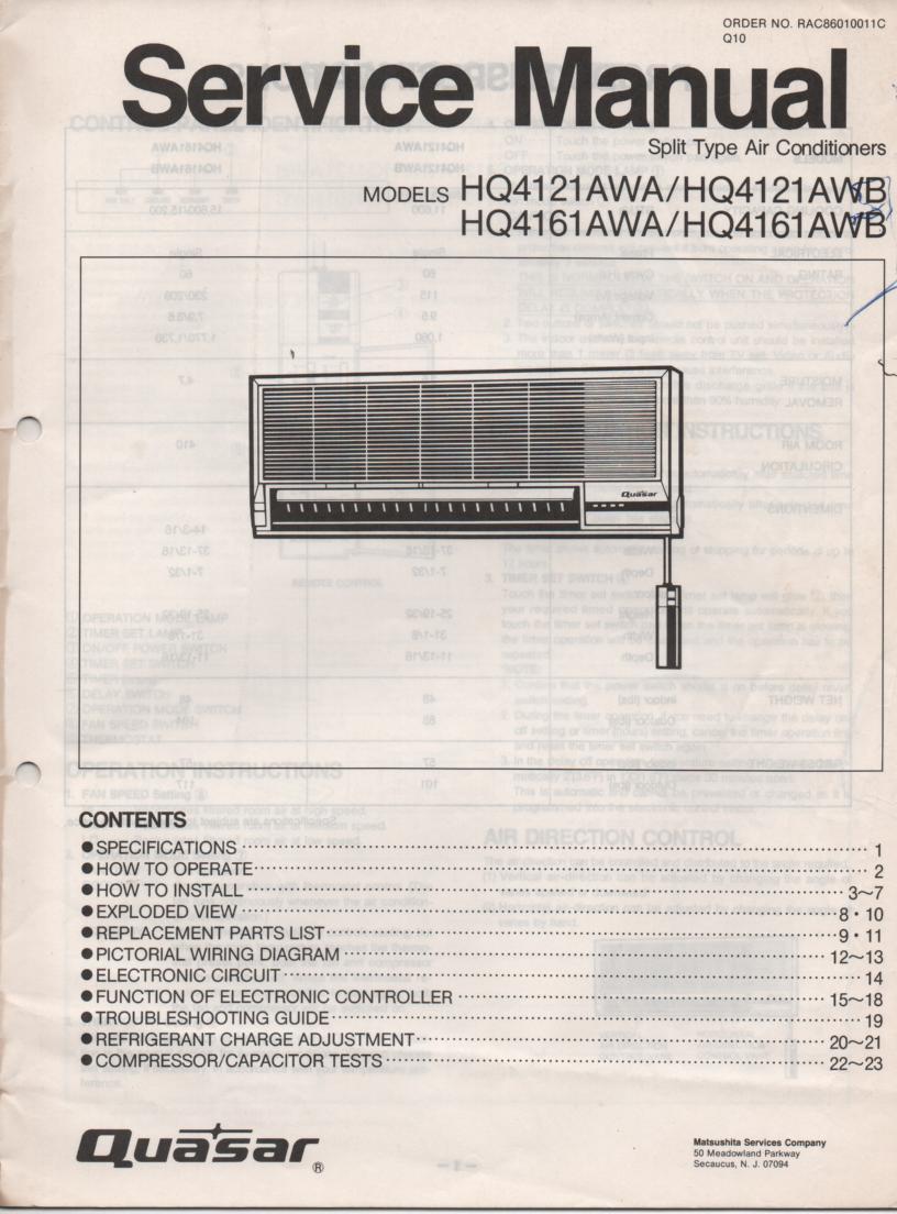 hitachi air conditioner service manual