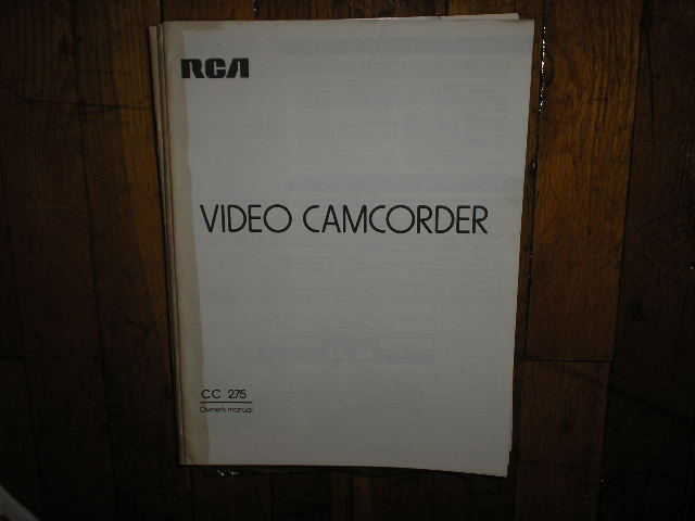 Rca Cc Camcorder Operating Instructions Manual on Zenith Tv Manuals