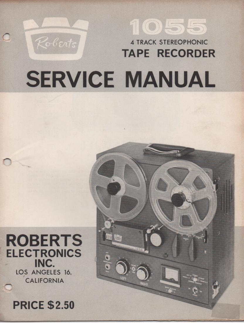 1055 4 Track Reel to Reel Service Manual