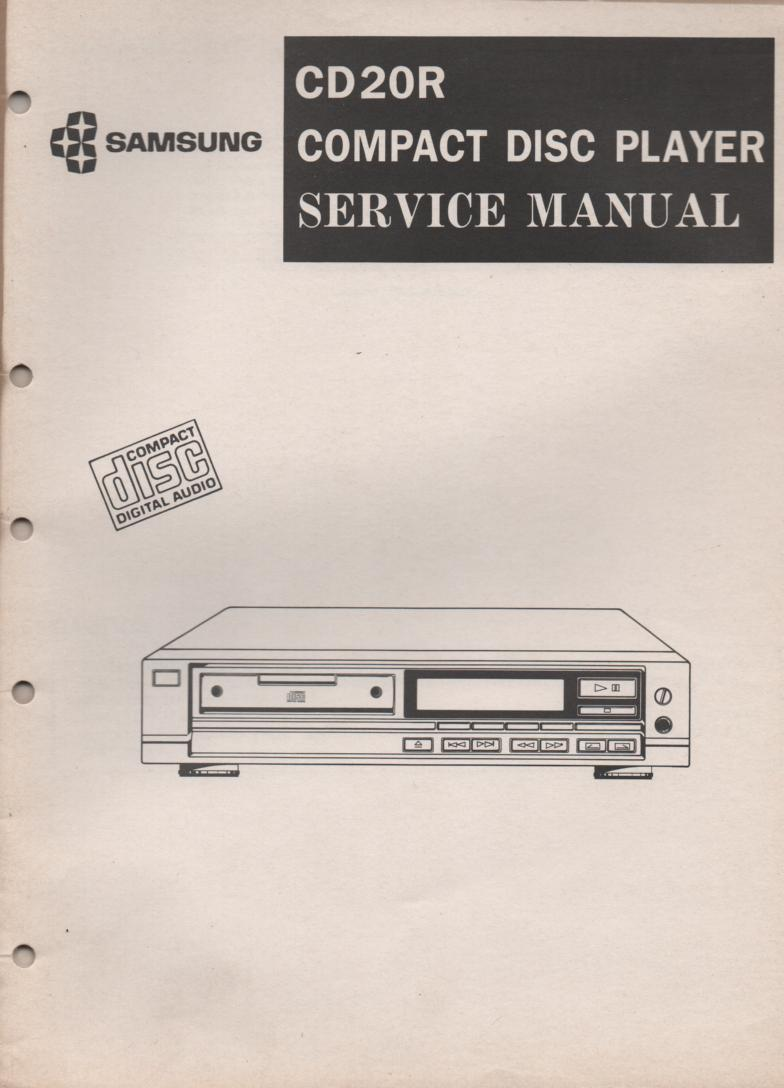 CD-20R CD Player Service Manual