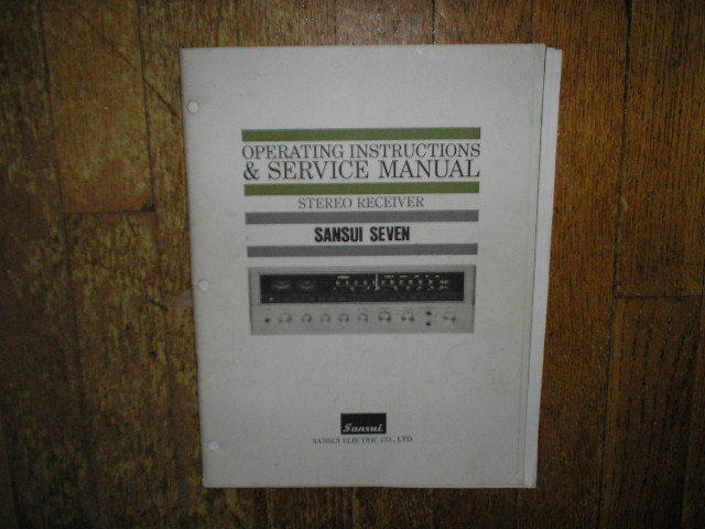 7 Seven Receiver Service Instruction Manual