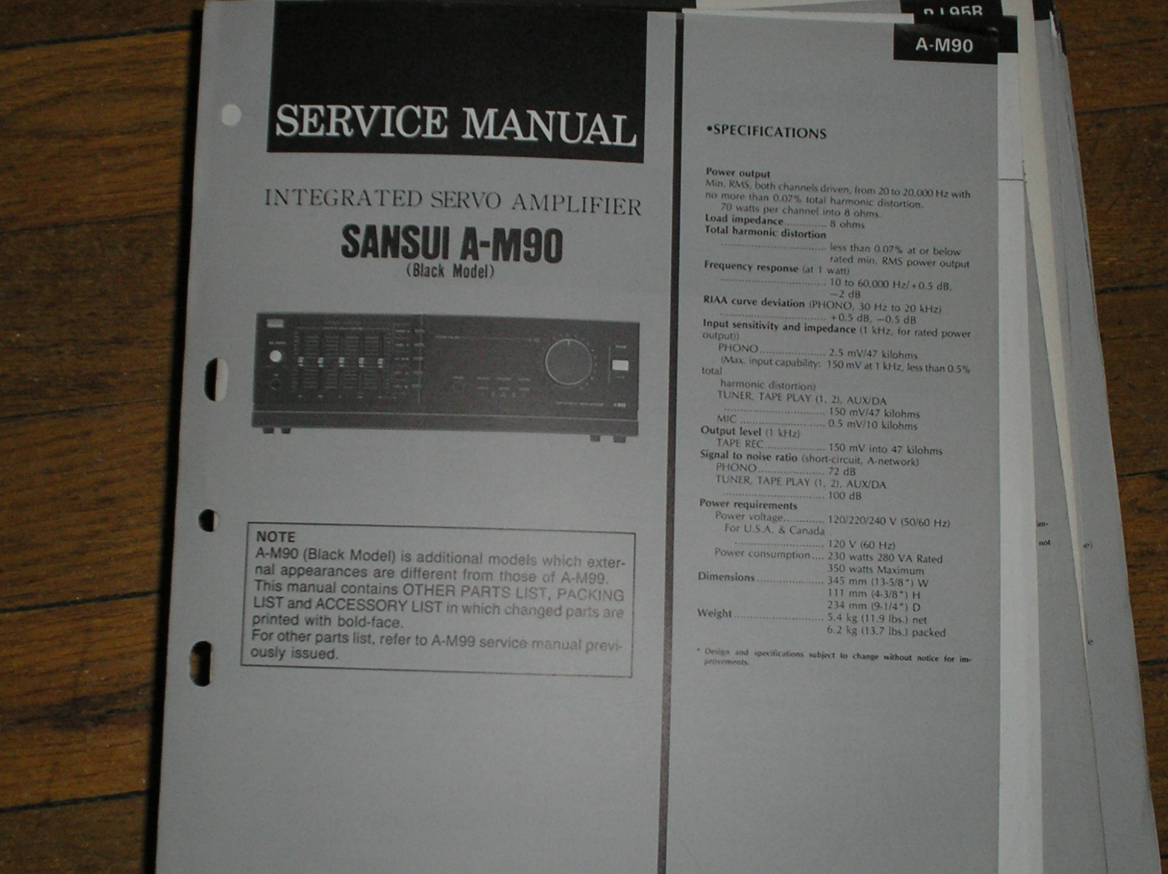 A-M90 Amplifier Service Manual