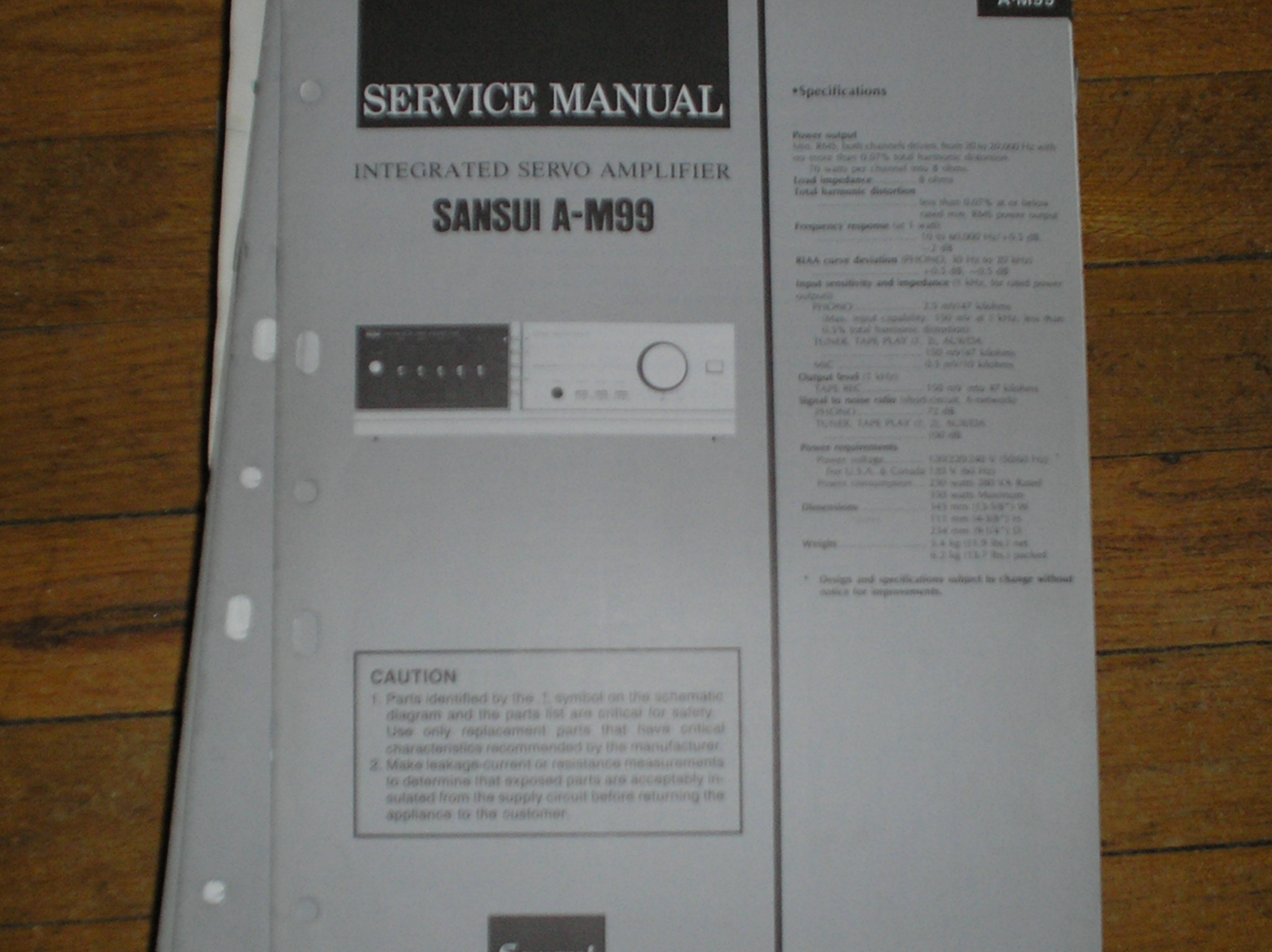 A-M99 Amplifier Service Manual