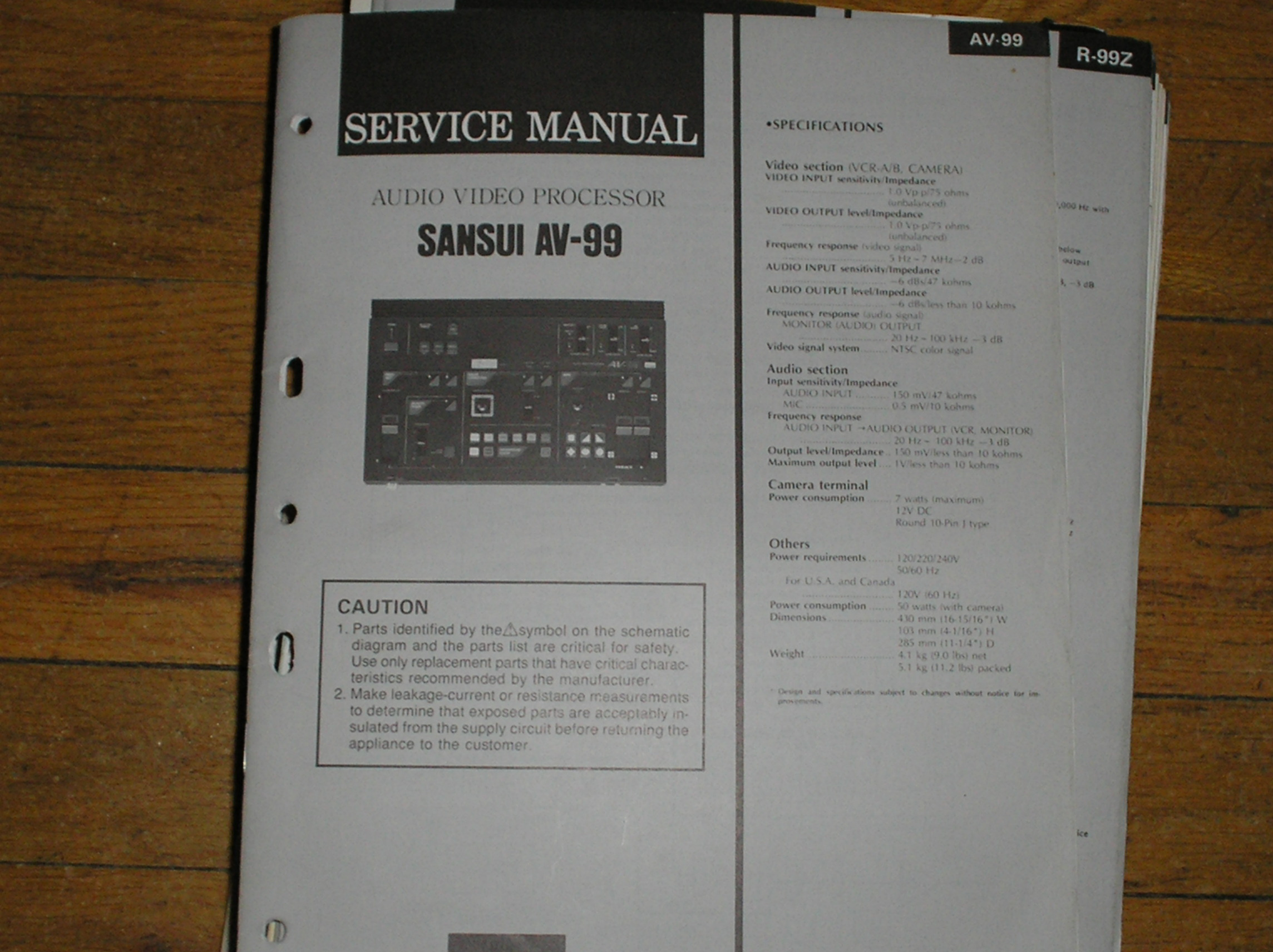 AV-99 Audio Video Processor Service Manual
