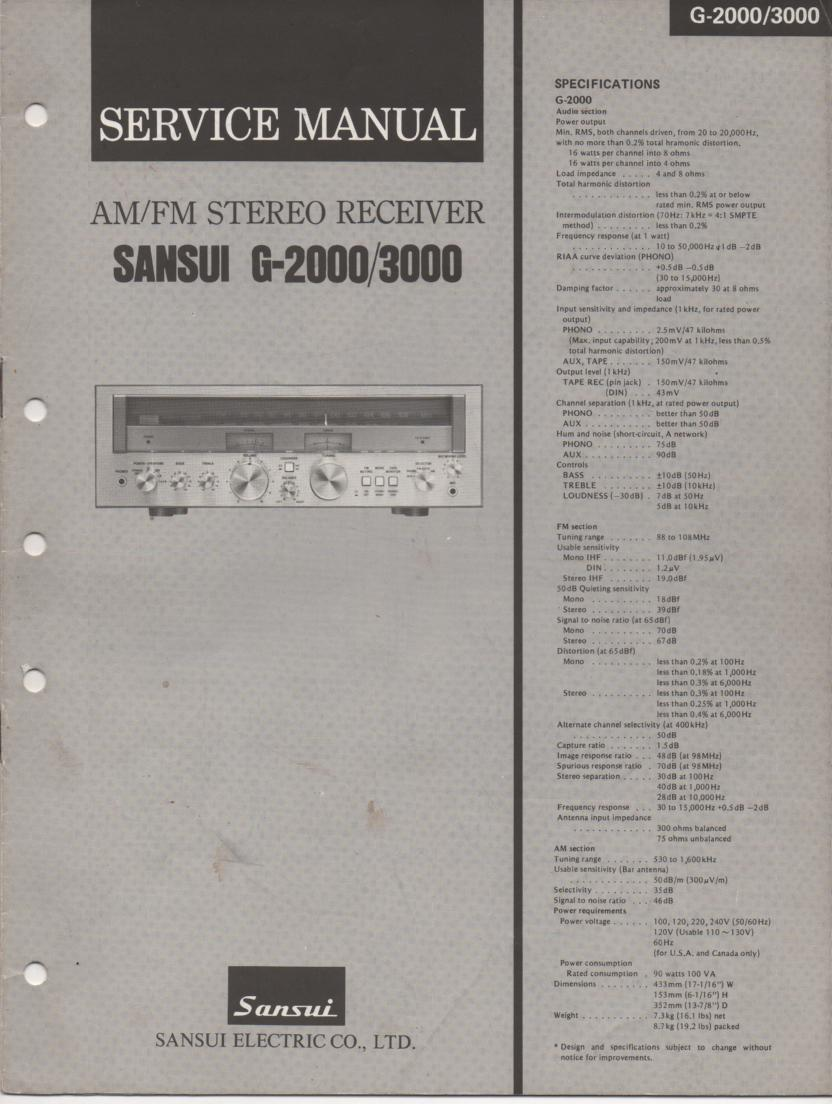 G-2000 G-3000 Receiver Service Manual