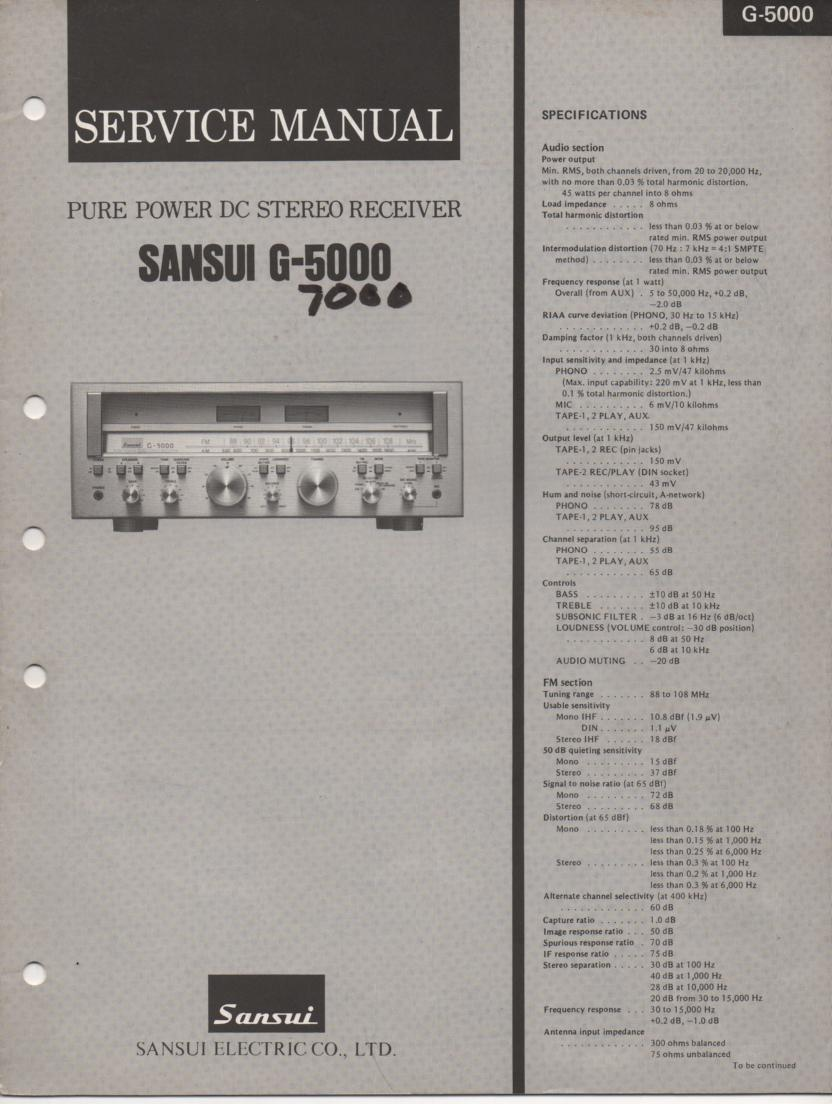 G-5000 G-7000 Receiver Service Manual
