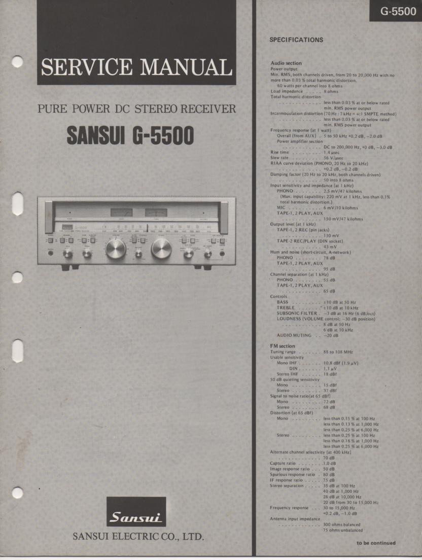 G-5500 Receiver Service Manual