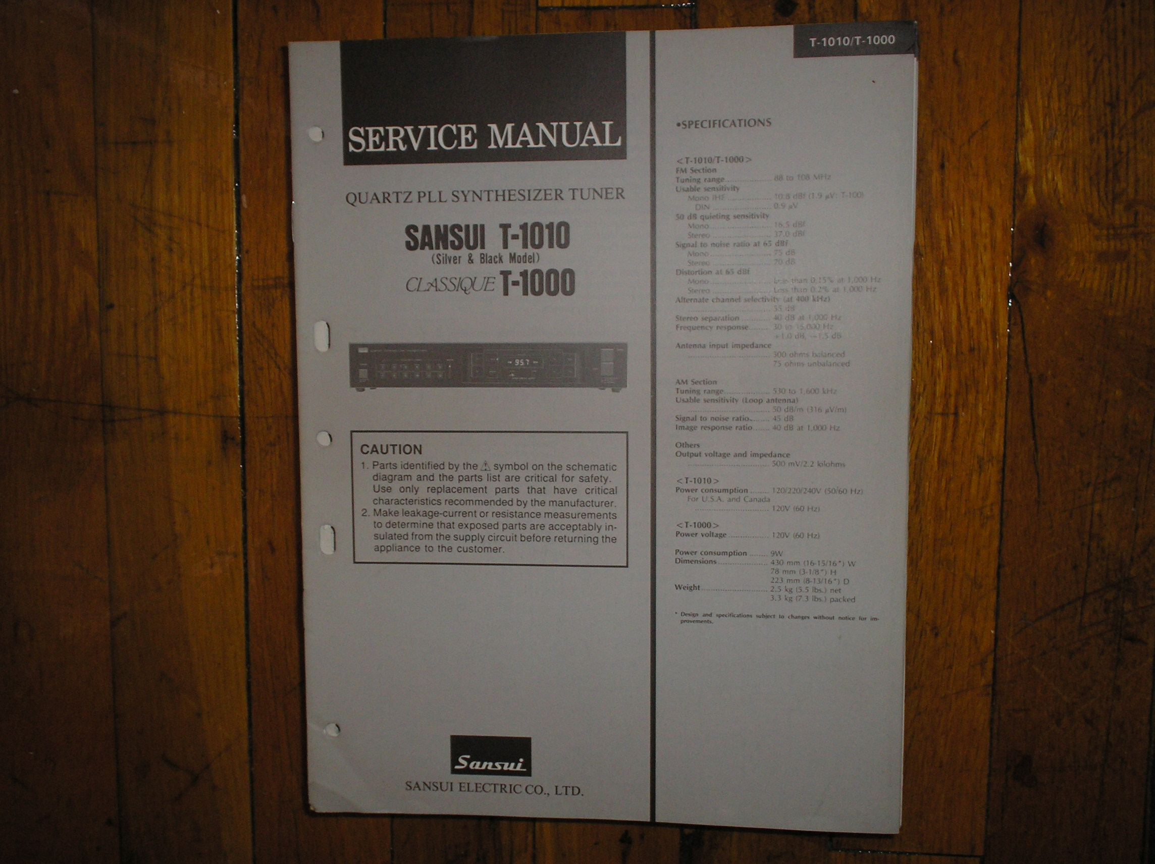 T-1000 T-1010 Tuner Service Manual