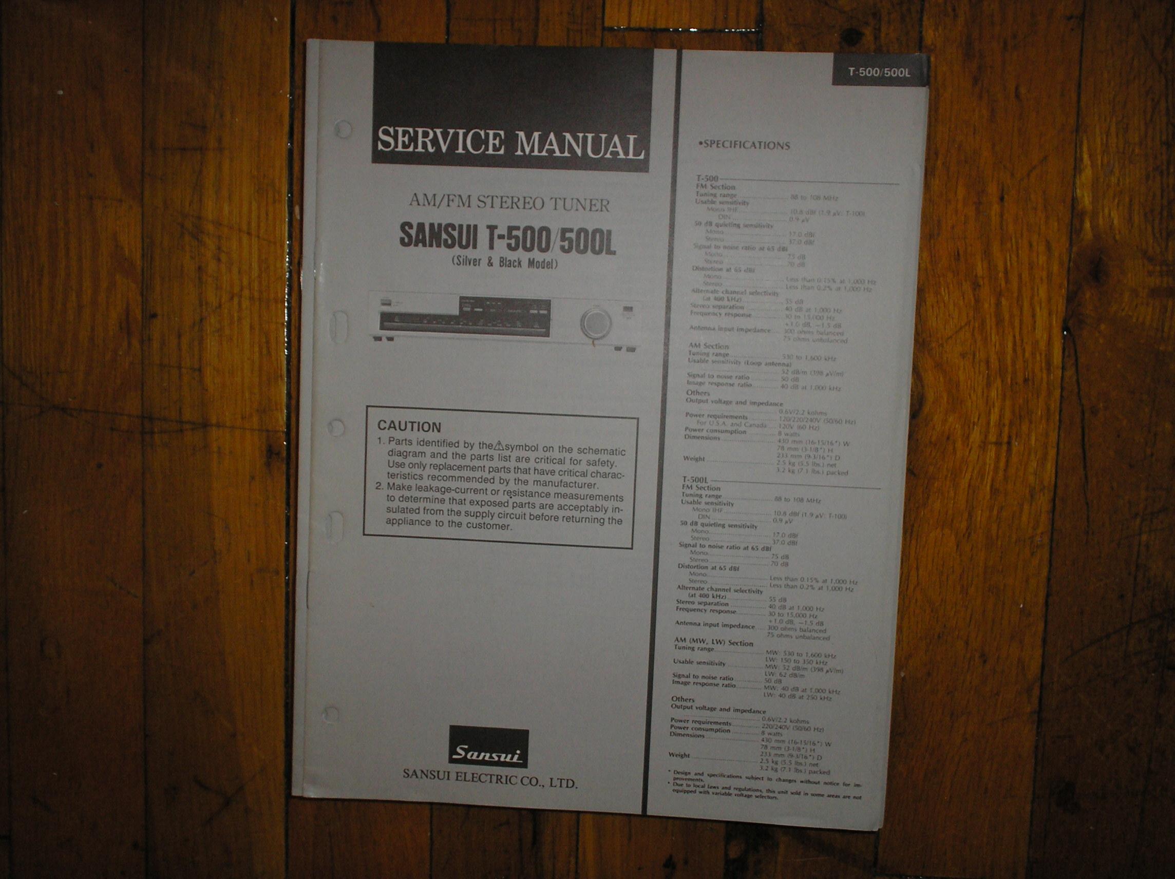 T-500 T-500L Tuner Service Manual