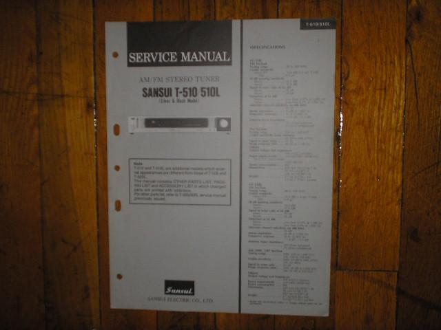 T-510 T-510L Tuner Service Manual