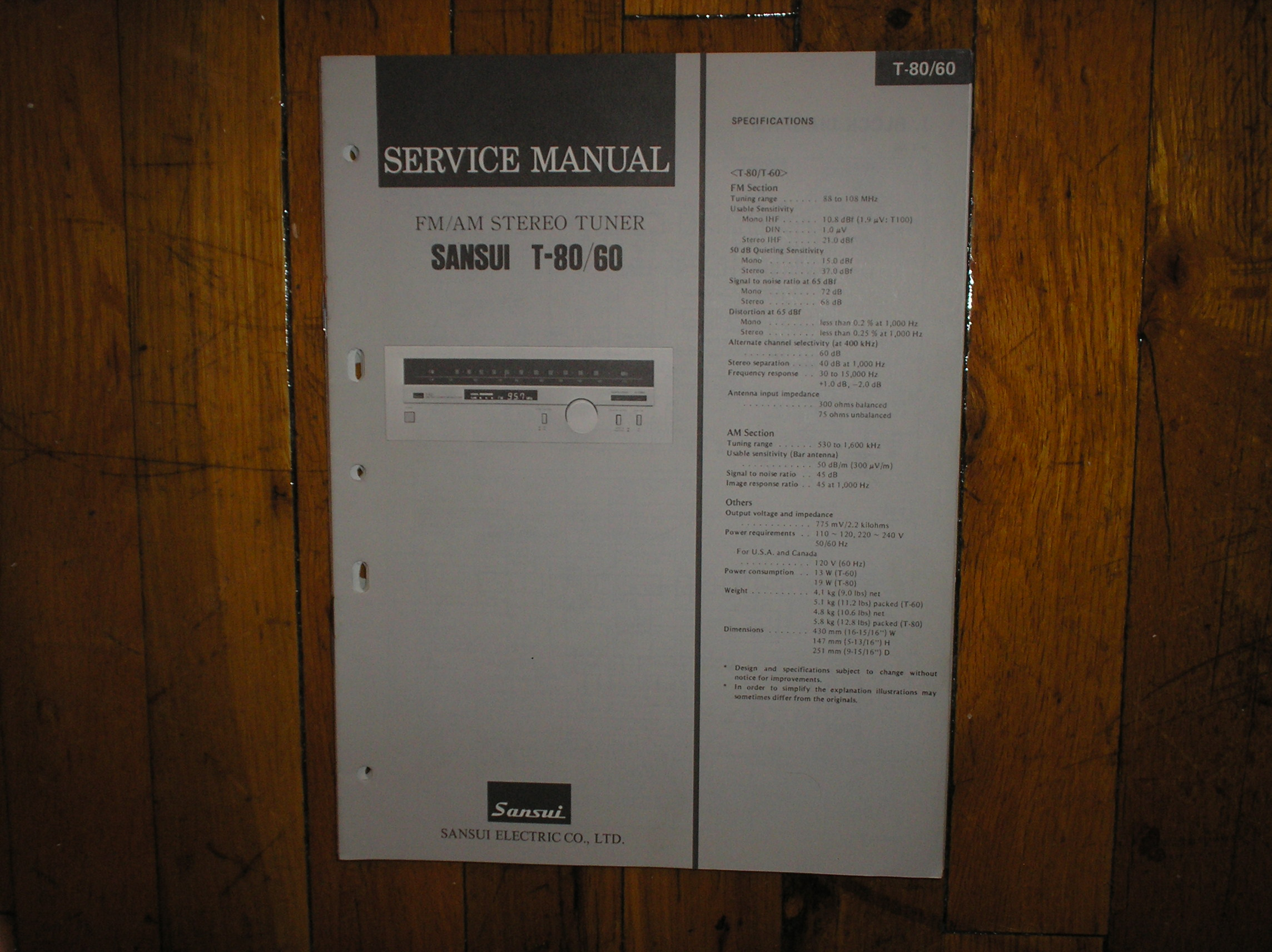 T-60 T-80 Tuner Service Manual