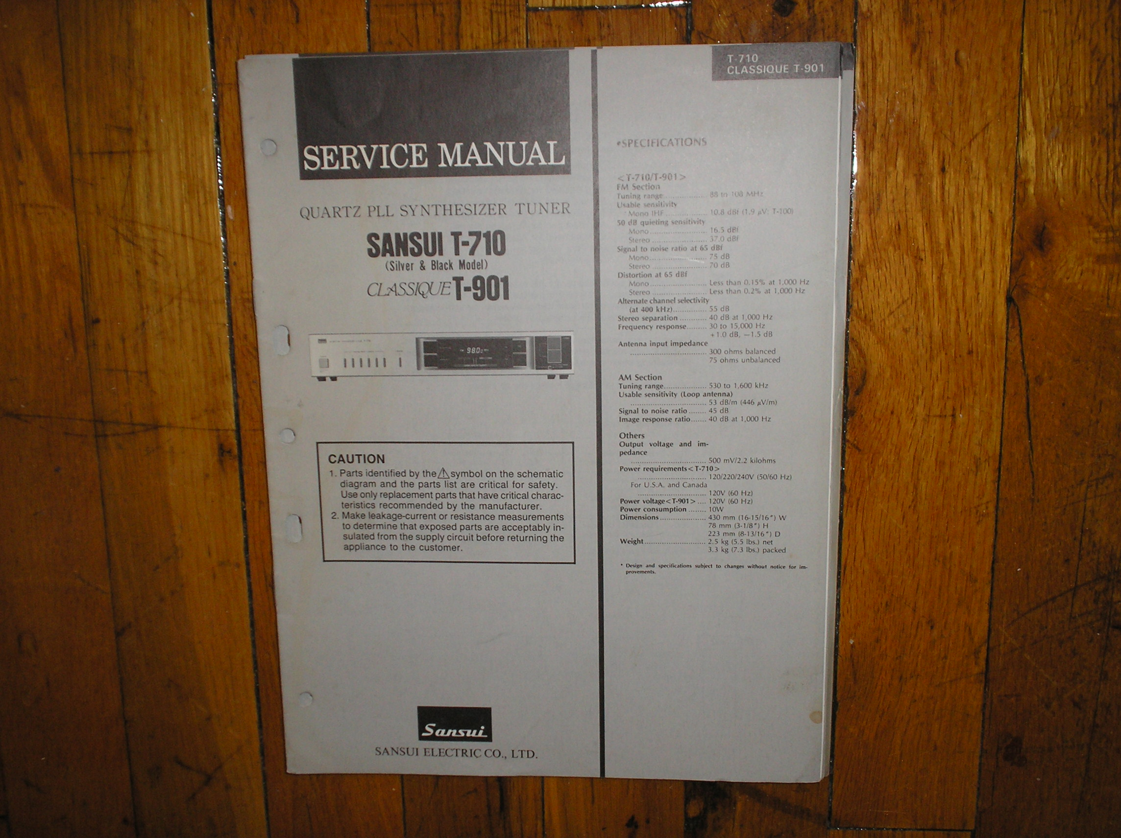 T-710 T-901 Tuner Service Manual