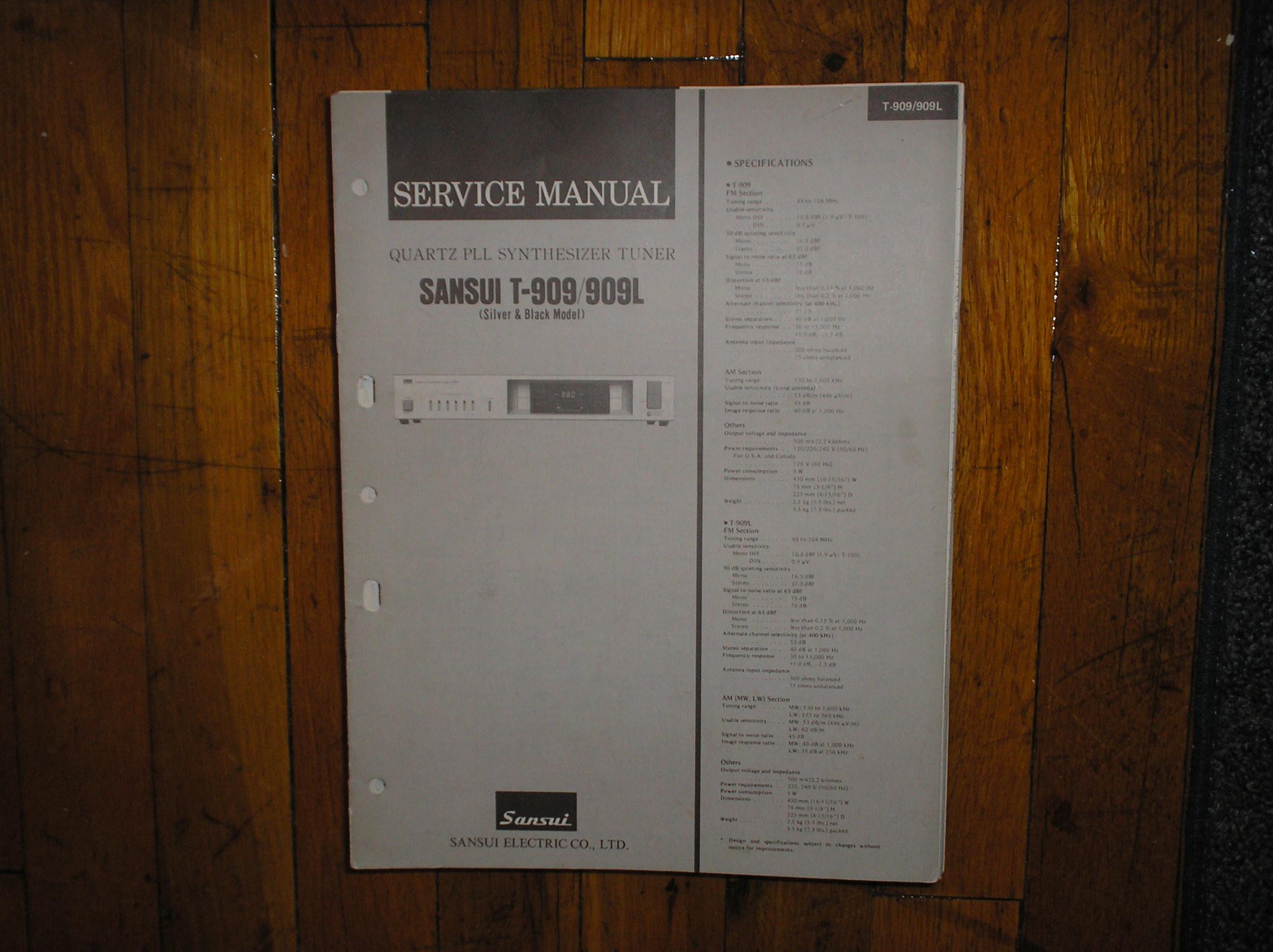 T-909 T-909L Tuner Service Manual