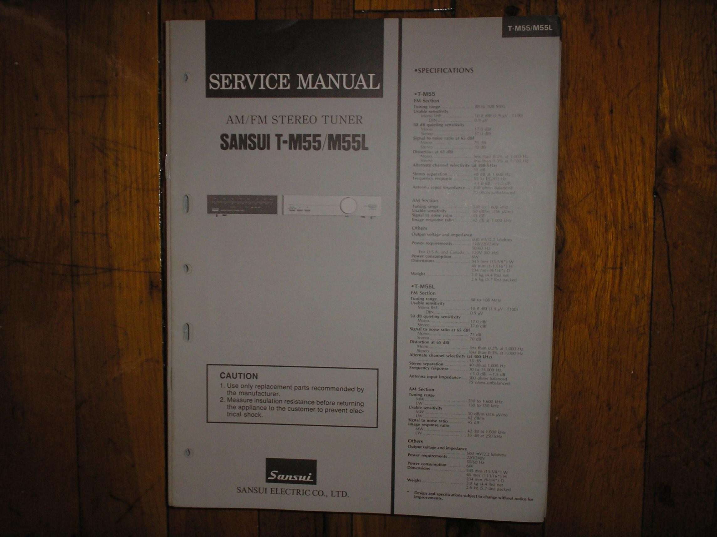 T-M55 T-M55L Tuner Service Manual