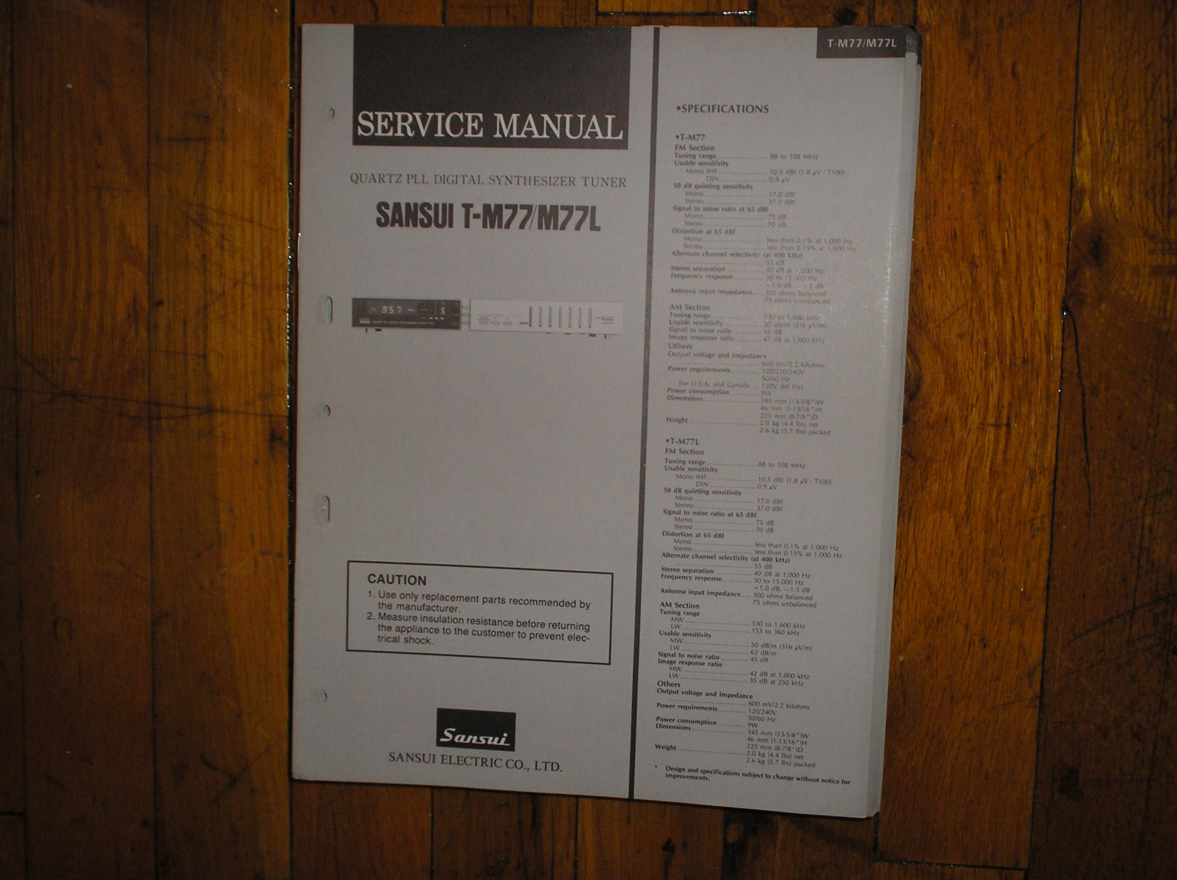 T-M77 T-M77L Tuner Service Manual