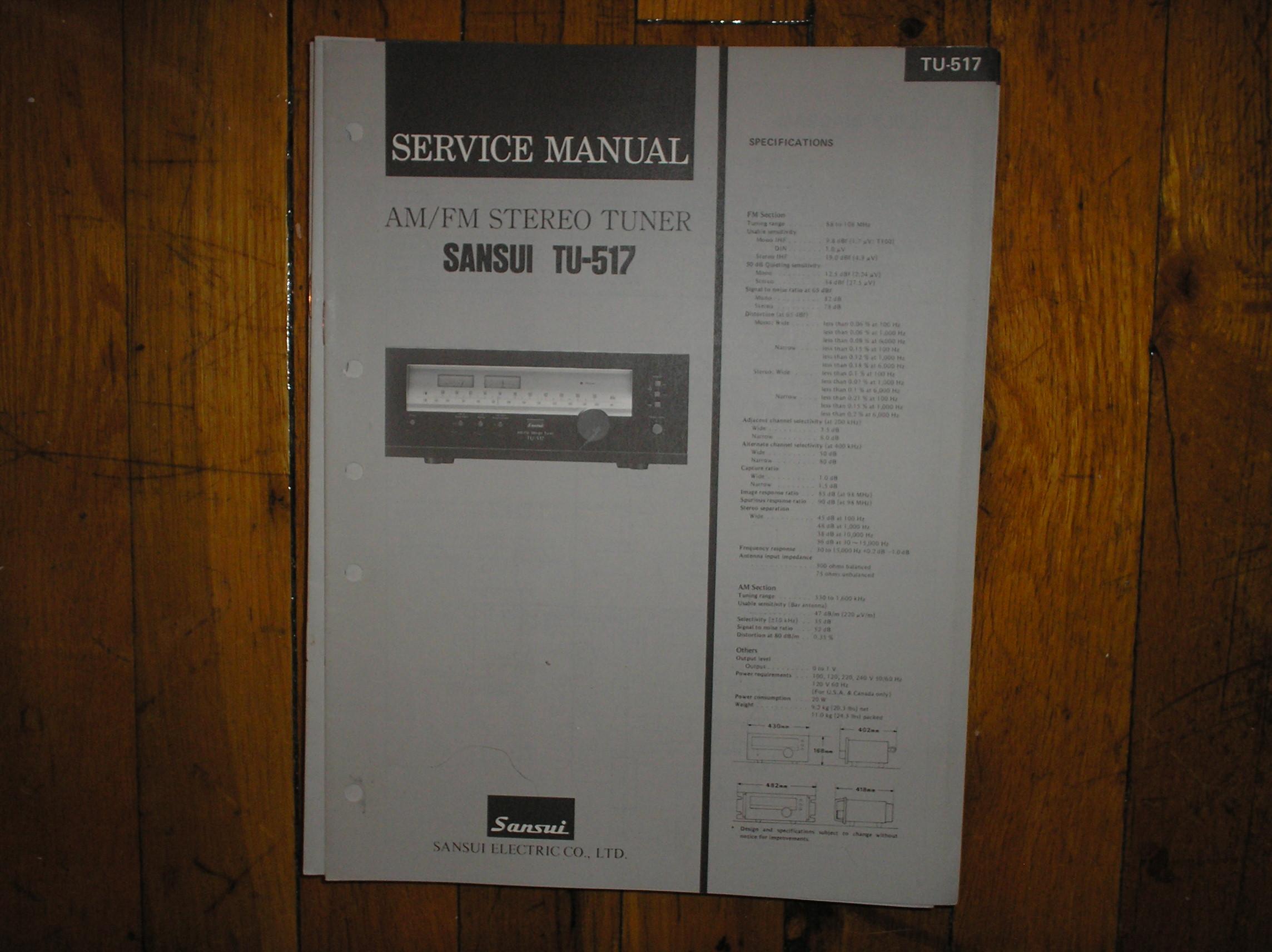 TU-517 Tuner Service Manual