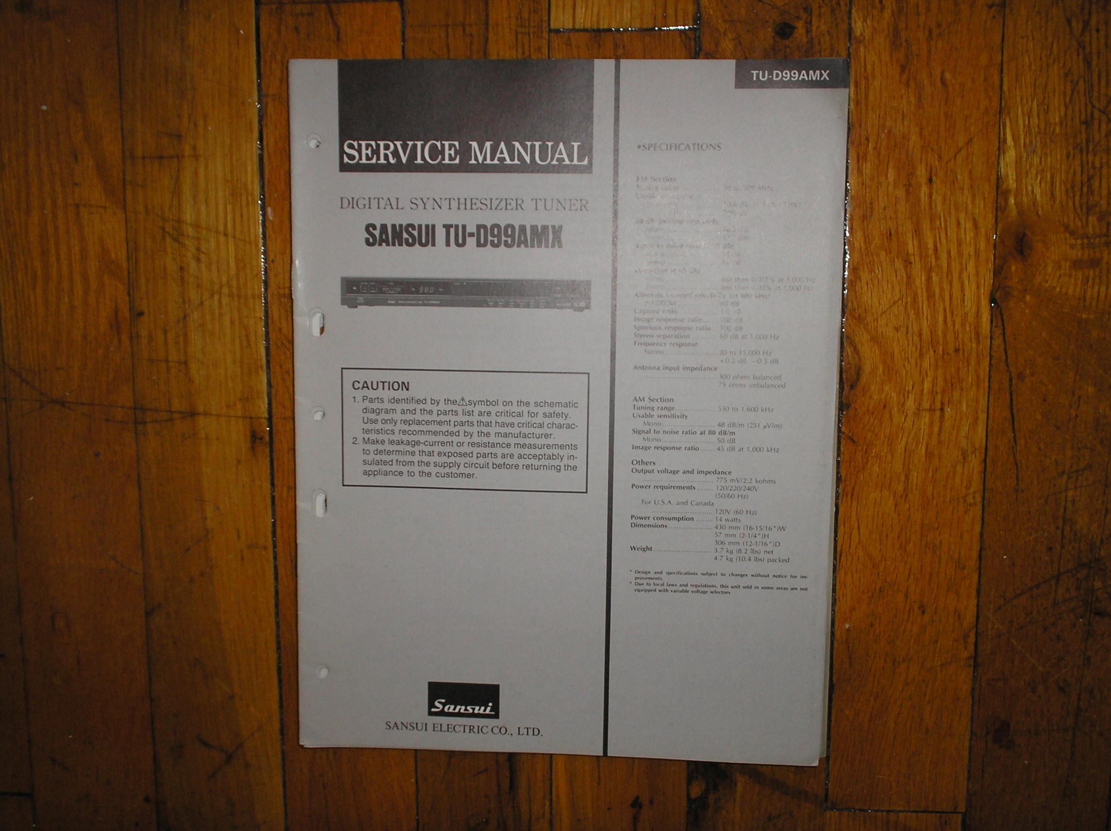 TU-D99AMX Tuner Service Manual