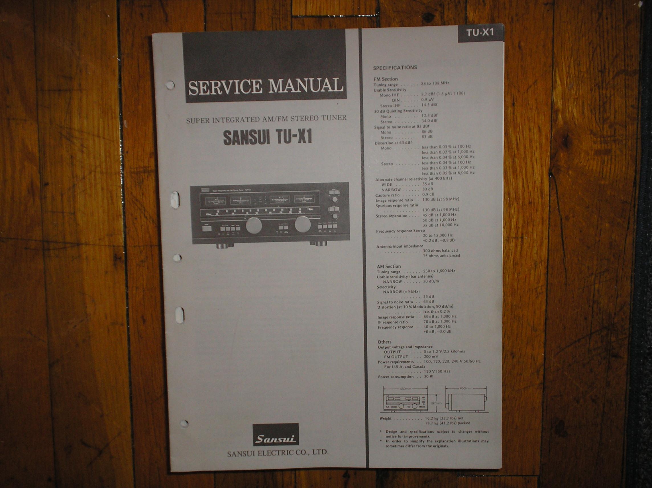 TU-X1 Tuner Service Manual