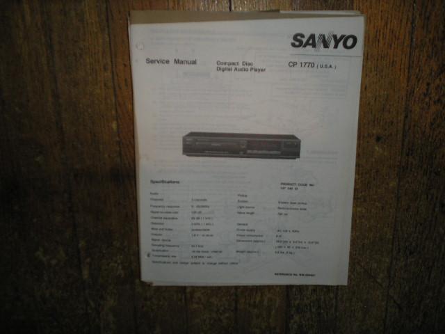 CP1770 CD Player Service Manual